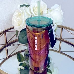 Starbucks 50th Anniversary Amber Luster Cold Cup